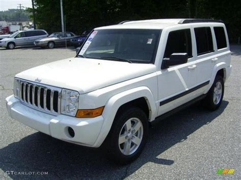 2008 Jeep Commander Reliability 2008 Jeep Commander White 200 Interior And Exterior Images