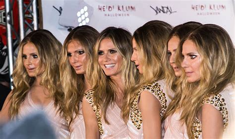 heidi klum surrounds herself with five real life clones at her heidi klum clones herself for halloween party celebrity