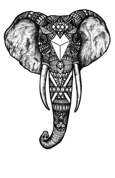 elephant pattern tumblr elephant drawing on tumblr