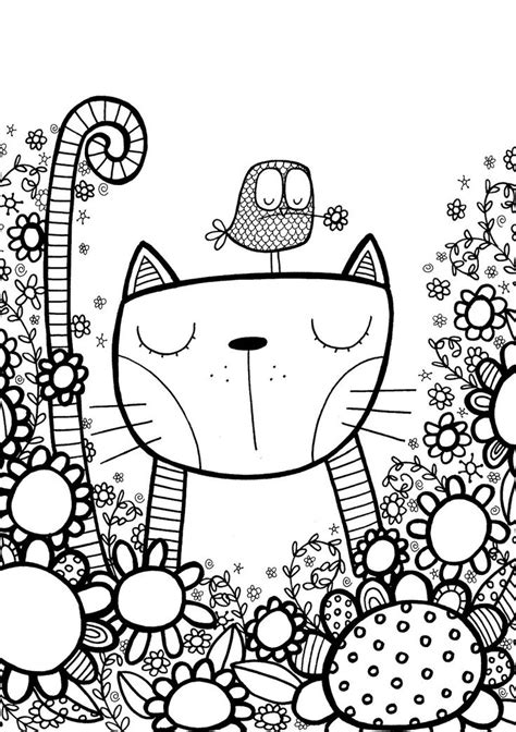 cat doodles pen doodle cat by starpixie via flickr cats
