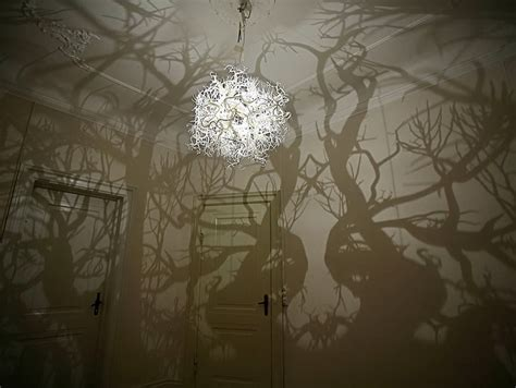 Chandelier That Turns Your Room Into A Forest Chandelier S Shadow Turns Room Into Forest On The Hunt