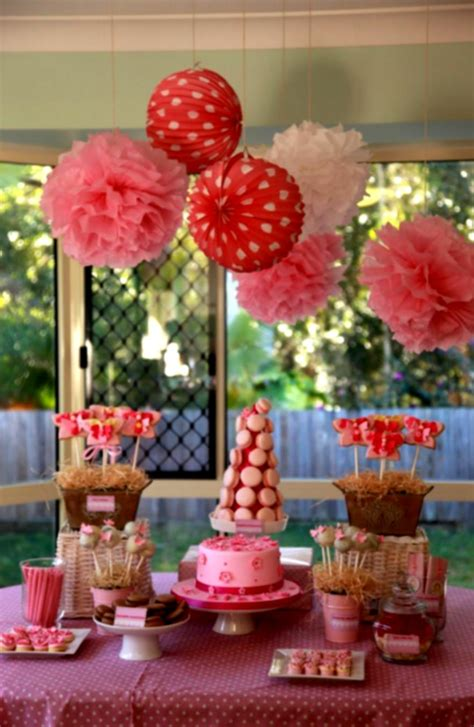 Decoration For Table 1st Birthday Decoration Ideas At Home For Favor Homelk