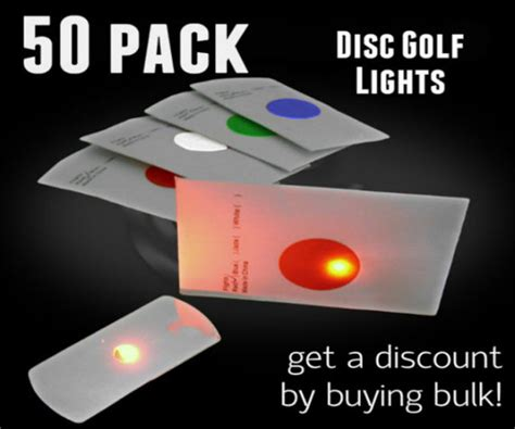 Disc Golf Lights by 50 Pack Of Flat Led Lights For Disc Golf And Crafts