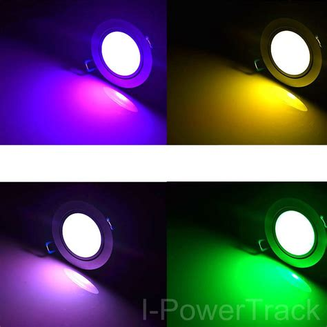 16w multi color colorful rgb color changing plastic optic