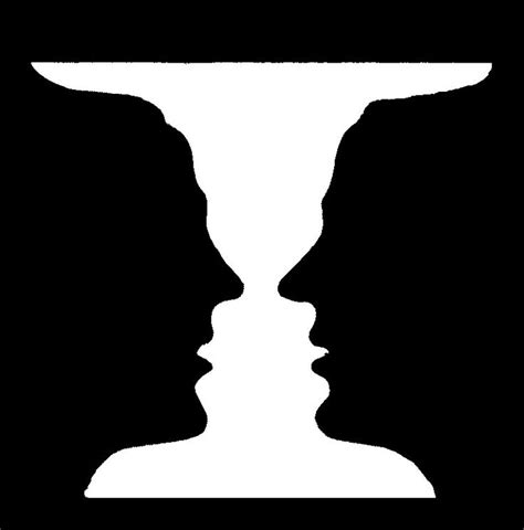Two Faces Or A Vase by The Classic Vs Vase Visual Illusions