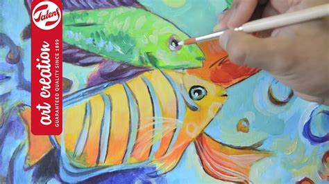 how to paint tropical fish with acrylics talens
