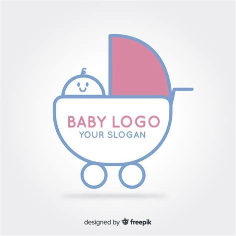 kinderwagen logo  der kostenlosen vektor