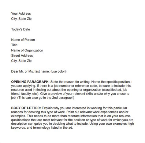 Letter For Business Pdf Business Cover Letter 8 Free Sles Exles Format