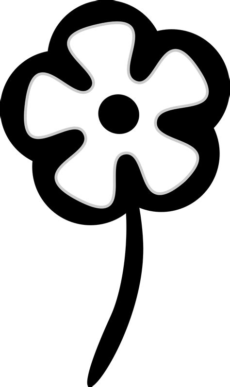 flower black and white clipart clip flower black and white clipart panda free