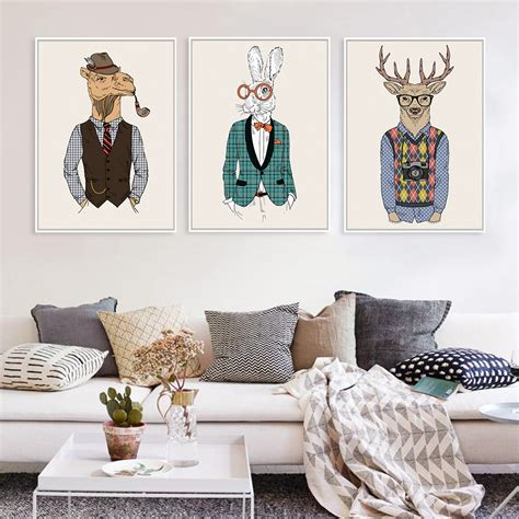 fashion animals giraffe zebra a4 vintage prints