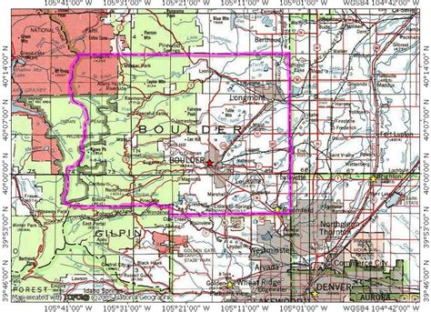 map of of colorado boulder boulder county co topo map of 5 of 11
