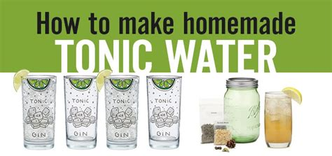 how to make water how to make tonic water diy tonic water