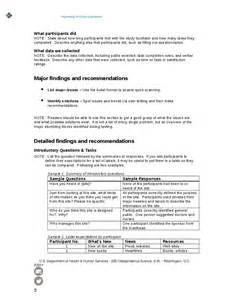 usability review template informal usability test report template hashdoc