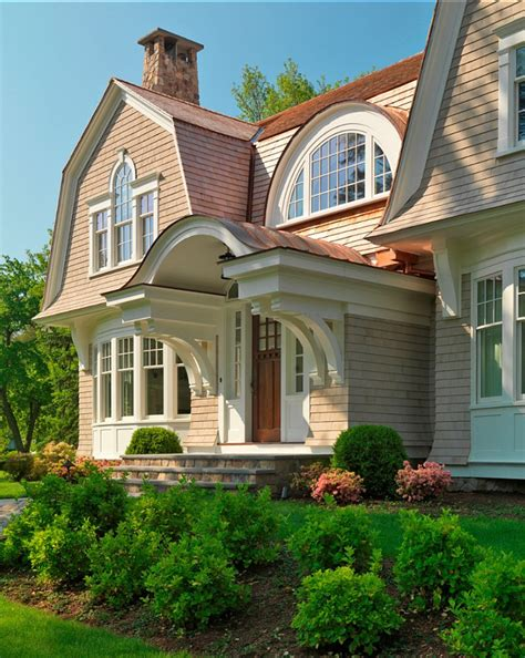 gambrel style homes elegant gambrel shingled home home bunch interior design