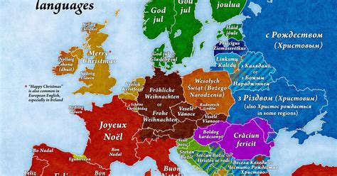 map shows     merry christmas   european language