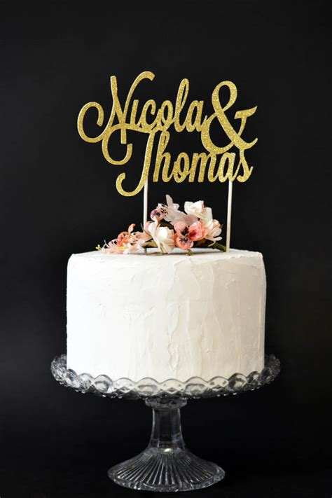 Wedding Cake With Name by Personalised Name Wedding Cake Topper By May Contain