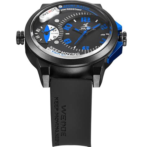 Weide Universe Series Dual Time 30m Water Resistance Limited 1 weide universe series dual time zone 30m water resistance uv1501 blue jakartanotebook