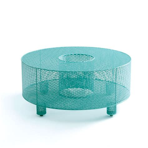 Teal Table L O Table In Teal By Damian Velasquez Metal Table Artful Home