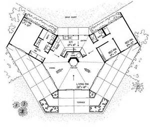 Hexagon Floor Plans by Hexagon House Plan A Home Pinterest Hexagons Unique
