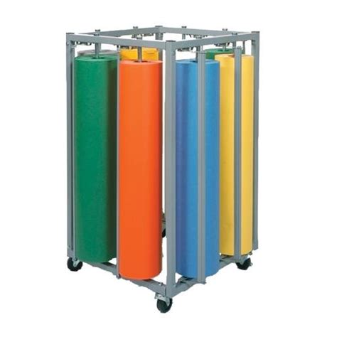 eight roll square vertical paper rack