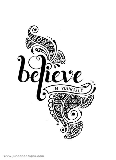 Believe in yourself on Behance