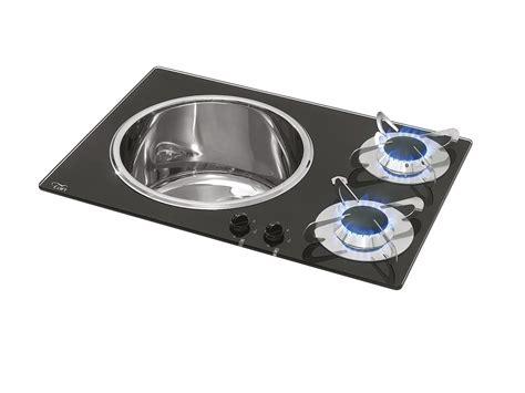 lavelli e piani cottura piano cottura in vetro combinato con lavello per cer pv1360
