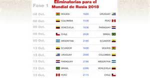Calendario Clasificatorias Rusia 2018 Horarios Guialatina Deporte Salud