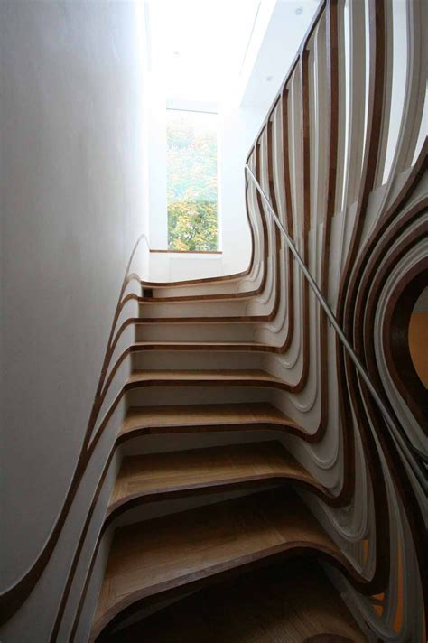 Step Interior by Curved Staircase Digsdigs