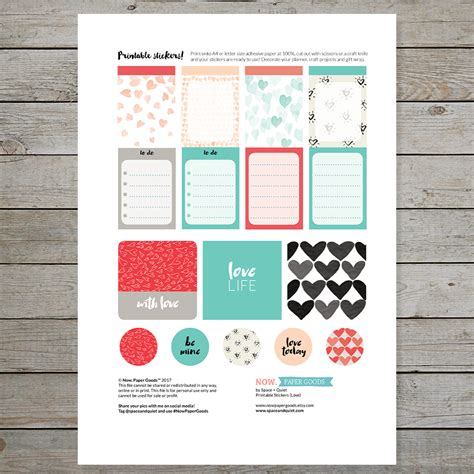 free printable valentines planner stickers free valentine s day printable stickers for planners and