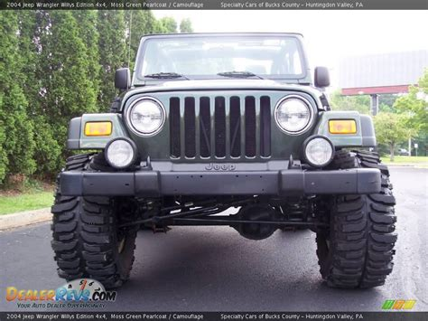 2004 Jeep Wrangler Willys 2004 Jeep Wrangler Willys Edition 4x4 Moss Green Pearlcoat