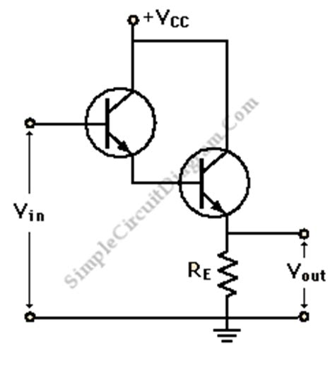 darlington transistor configuration npn transistor darlington configuration simple circuit diagram