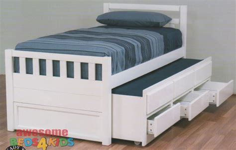 king single bed with storage drawers cruise captains bed white single king single kid