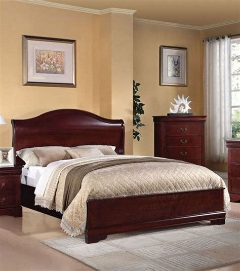 cherry bedroom furniture sets acme furniture louis phillipe iii cherry finish queen sleigh bed 21540q traditional