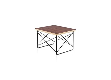 eames wire base low table three chairs