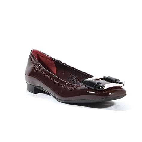 prada womens flat burgundy patent leather shoes prw53