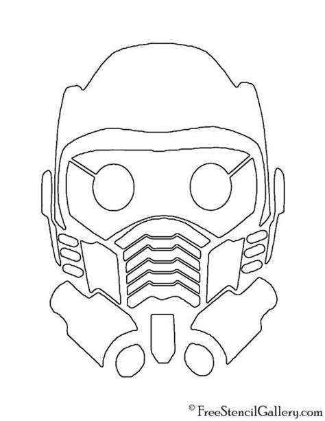 Guardians of the Galaxy - Star Lord Mask Stencil | Free