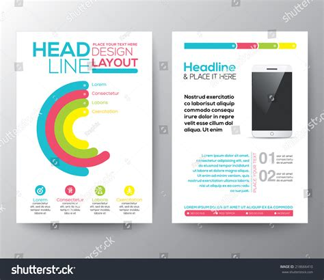graphic design layout smart phone concept stock vector