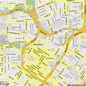 map of houston free printable maps