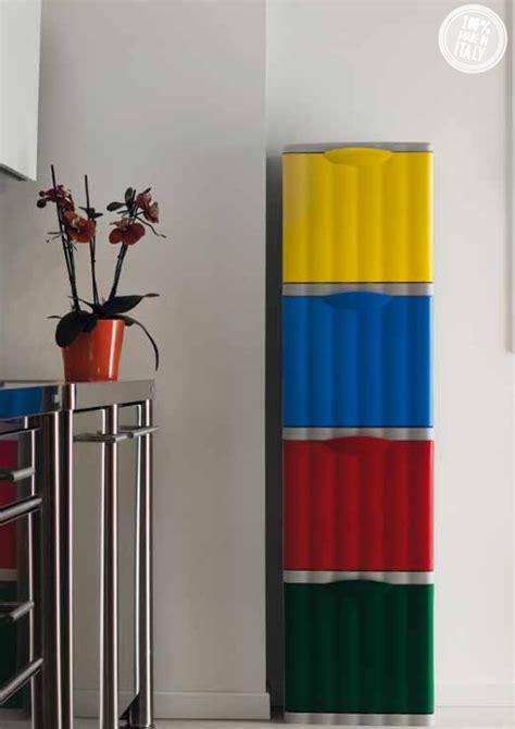 Pattumiera Differenziata Design by Pattumiera Raccolta Differenziata Amica Rosso Rosi Store