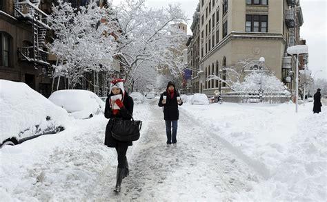 imagenes de nueva york invierno con agua nieve recibieron los neoyorquinos la navidad 187 eje21