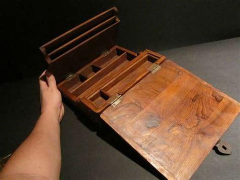 folding lap desk plans antique vintage style folding document writing wood lap