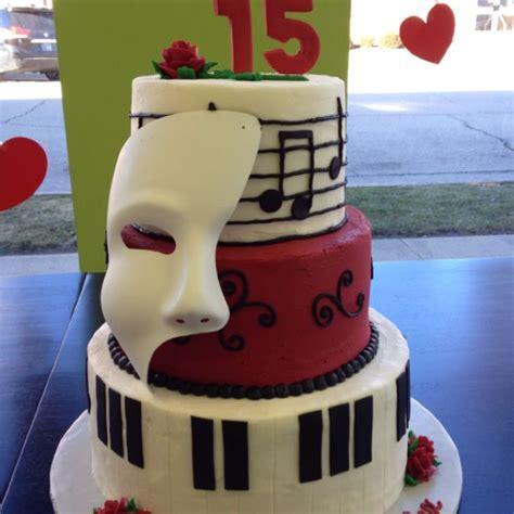 cute opera themes 15th birthday cake phantom of the opera food
