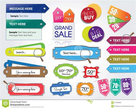 web price price tags and web elements stock photos image 21532663