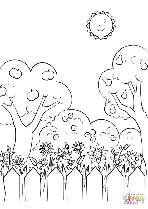 garden coloring pages beautiful garden coloring page free printable coloring pages