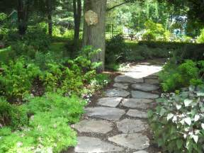 a stepping path in a shade garden rustic