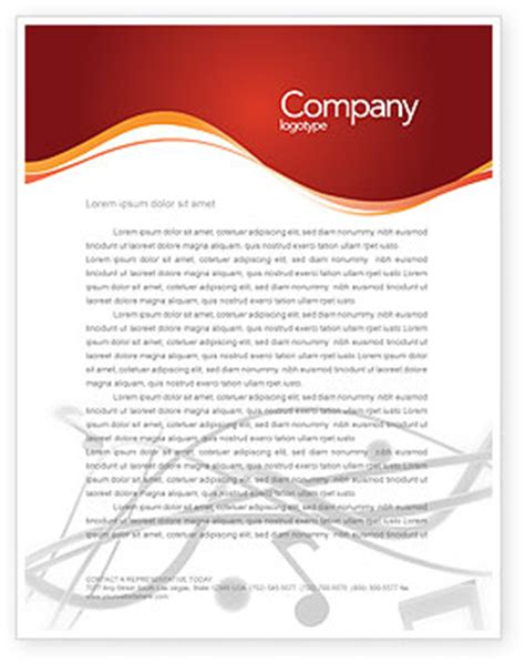 Business Letter Template Ai Letterhead Template Layout For Microsoft Word Adobe Illustrator And Other Formats 02687