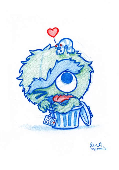 does doodle draw blue doodle 42 oscar the grouch and slimey here s