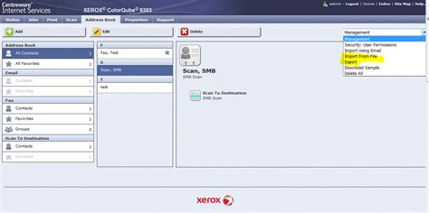 csv format for xerox public address book solved network address book ldap for embedded fax or f