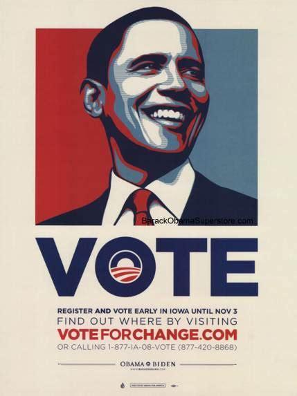 Design Your Own Home Iowa Barack Obama Iowa Vote Change Campaign Poster America