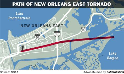 map of new orleans damage new orleans east tornado at least an ef2 hundreds of
